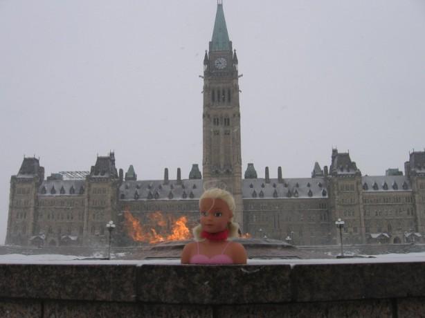 Miss Toronto visits Parliament